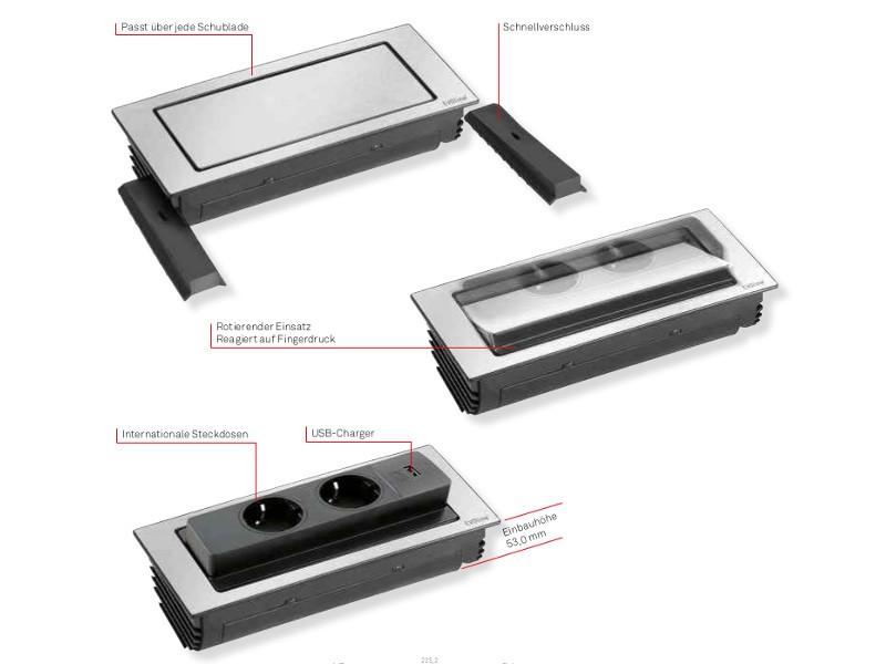 evoline backflip standard 2x steckdose. Black Bedroom Furniture Sets. Home Design Ideas